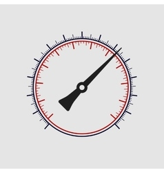 manometer without numbers on a white vector image