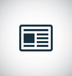 news icon vector image