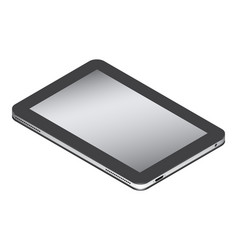 Realistic tablet in isometry isolated on a white vector