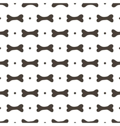 Seamless pattern background with bones vector image vector image