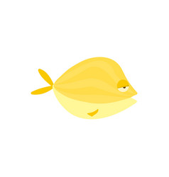 yellow reef fish cartoon vector image vector image