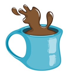 Cup of coffee with splash Hot chocolate vector image