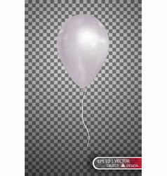 white air balloon eps10 vector image
