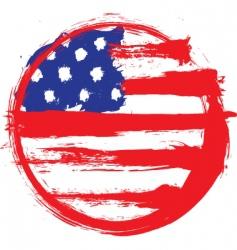 America circle flag vector image vector image