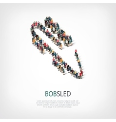 people sports bobsled vector image