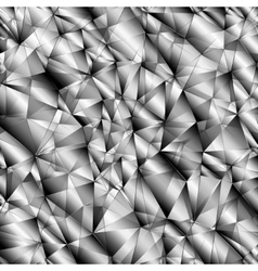 polygonal gray high-tech background vector image