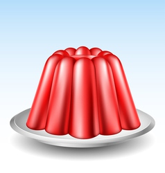 Red jelly pudding vector image vector image