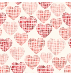 Sketchy seamless pattern with hearts vector image