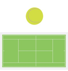 Tennis ball and court vector image vector image