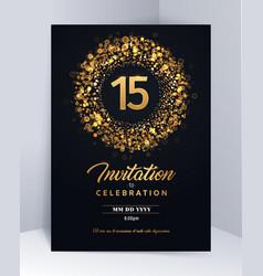 15 years anniversary invitation card template vector