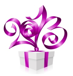 2013 ribbon gift box vector