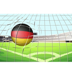 A soccer ball with the flag of Germany vector image