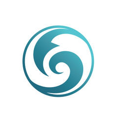 abstract circle wave logo image vector image