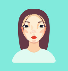 attractive asian woman thinking isolated on blue vector image