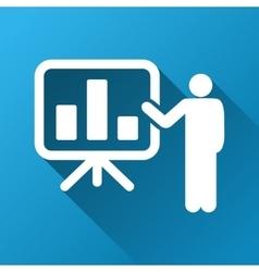 Bar Chart Presentation Gradient Square Icon vector