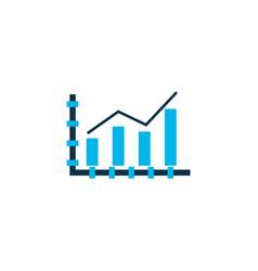 bar line chart icon colored symbol premium vector image
