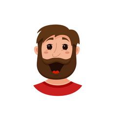 Beard men facial expression vector
