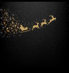 black winter background vector image