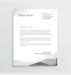 business letterhead design template in gray shade vector image