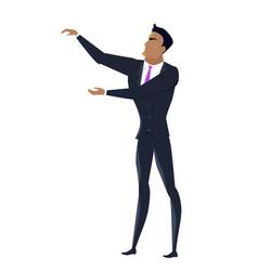 Businessman in flat design vector