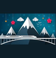 cartoon mountain landscape travel vector image