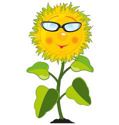 Cartoon of the plant sunflower vector