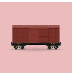 Closed Cargo Wagon Isolated vector