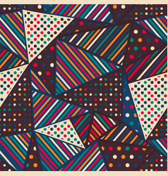 cloth triangle seamless pattern vector image
