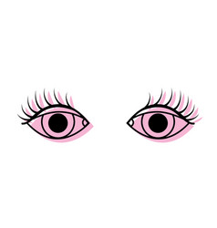 Color vision eyes with eyelashes style design vector
