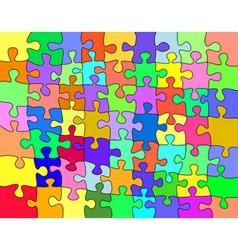 Colorful jigsaw vector