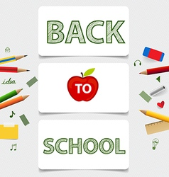 Cute note papers welcome back to school vector image