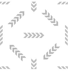 dots arrow seamless pattern on white background vector image