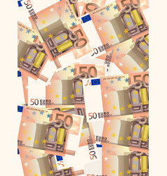 fifty euros background vertical vector image