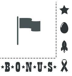 Flag icon location marker symbol flat design vector