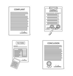 form and document symbol vector image