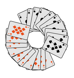 French playing cards related icon icon image vector