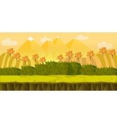 Game 2d autumn park landscape with hills vector