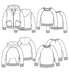 Girls hoodies vector image