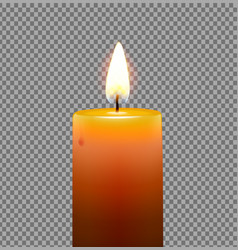 golden yellow candle vector image