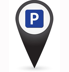 GPS marker with parking sign vector