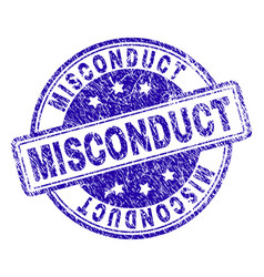 Grunge textured misconduct stamp seal vector