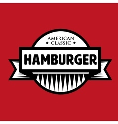 Hamburger - American Classic vintage stamp vector image