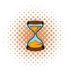 Hourglass icon comics style vector image