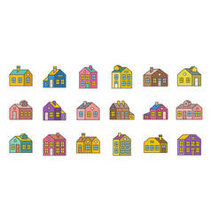 house filled outline icon pixel perfect vector image