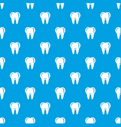 hygiene of tooth pattern seamless blue vector image