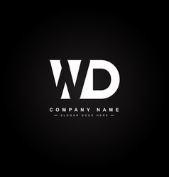 initial letter wd logo - minimal business logo vector image