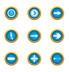 insertion cursor icons set flat style vector image