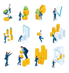 Isometric concepts investment bank loans vector