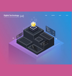 isometric design concept virtual reality vector image