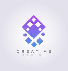 logo design modern abstract rhombus symbol icon vector image